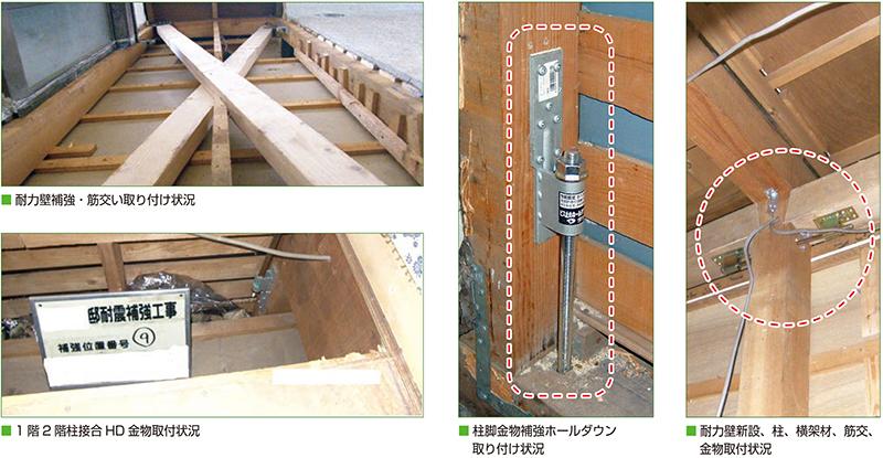 各種耐震補強工事(耐力壁補強の施工例)